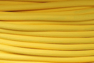 Textile cable Yellow Z10 braided 2x0.75 and 3x0.75mm2