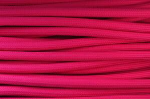 Textile cable Pink Dark R11 braided 2x0.75 and 3x0.75mm2