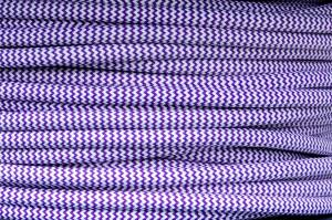 Textile cable Zig Zag Purple-White 22 braided 2x0.75 and 3x0.75mm2