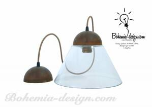 "Pendant lamp Vintage Patina + glass shade ""A"""