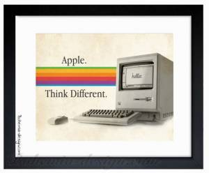 Illustration Apple Think Different 30x40 cm